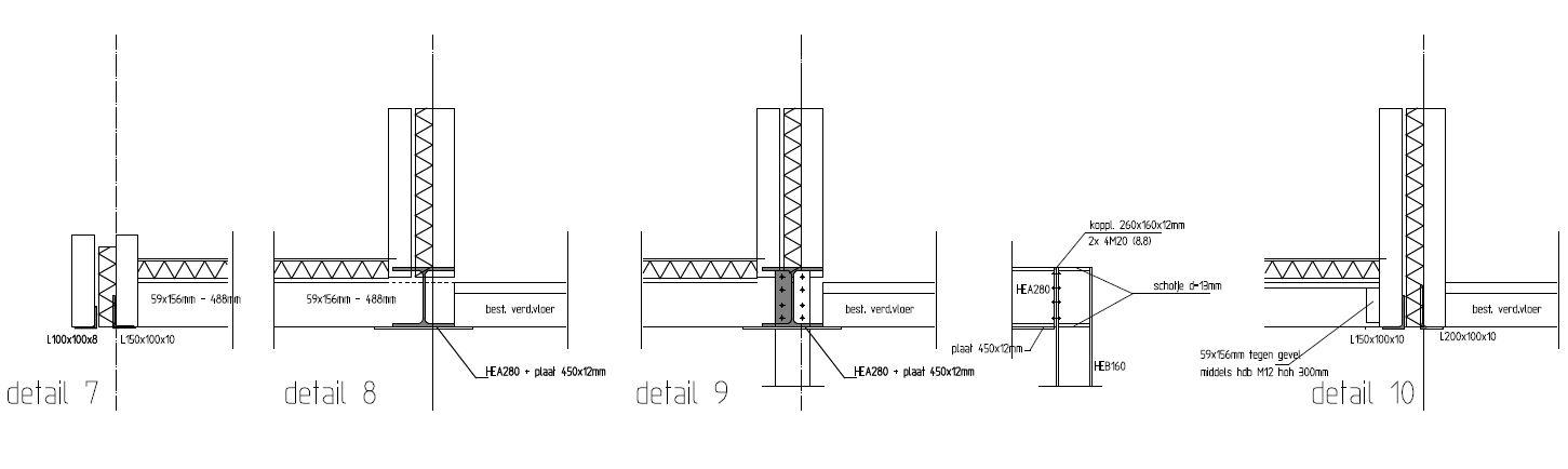 Constructie aansluitdetails